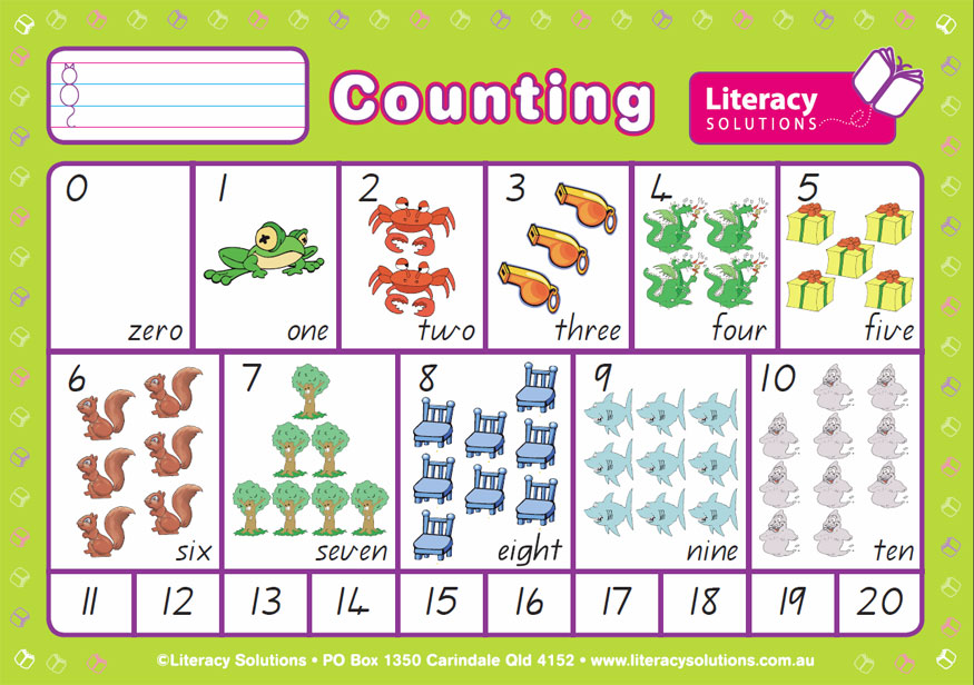 Counting side of A4 Deskmat