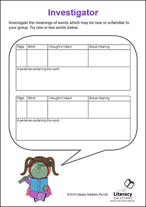 Literature Circle Role Cards: Literacy Solutions